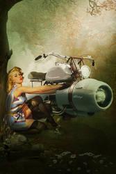 Harley Davidson pin up by Aste17