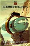 Mars Magnetic Railways
