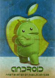 Android  Versus Apple Vintage by Aste17