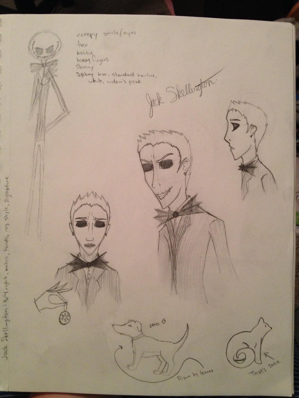 Jack Skellington sketch try by HpyGrl567