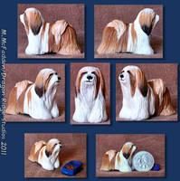 Ketu- Lhasa Apso dog sculpture by Tephra76