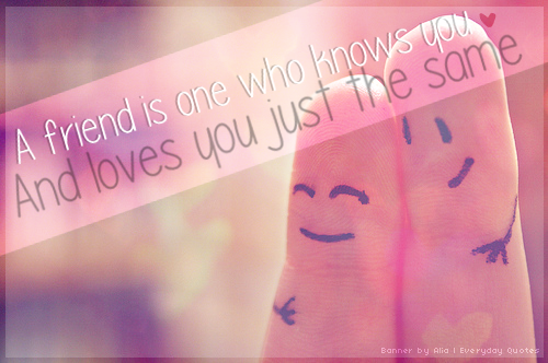 Everyday Quote #18: Friendship by sugarnote