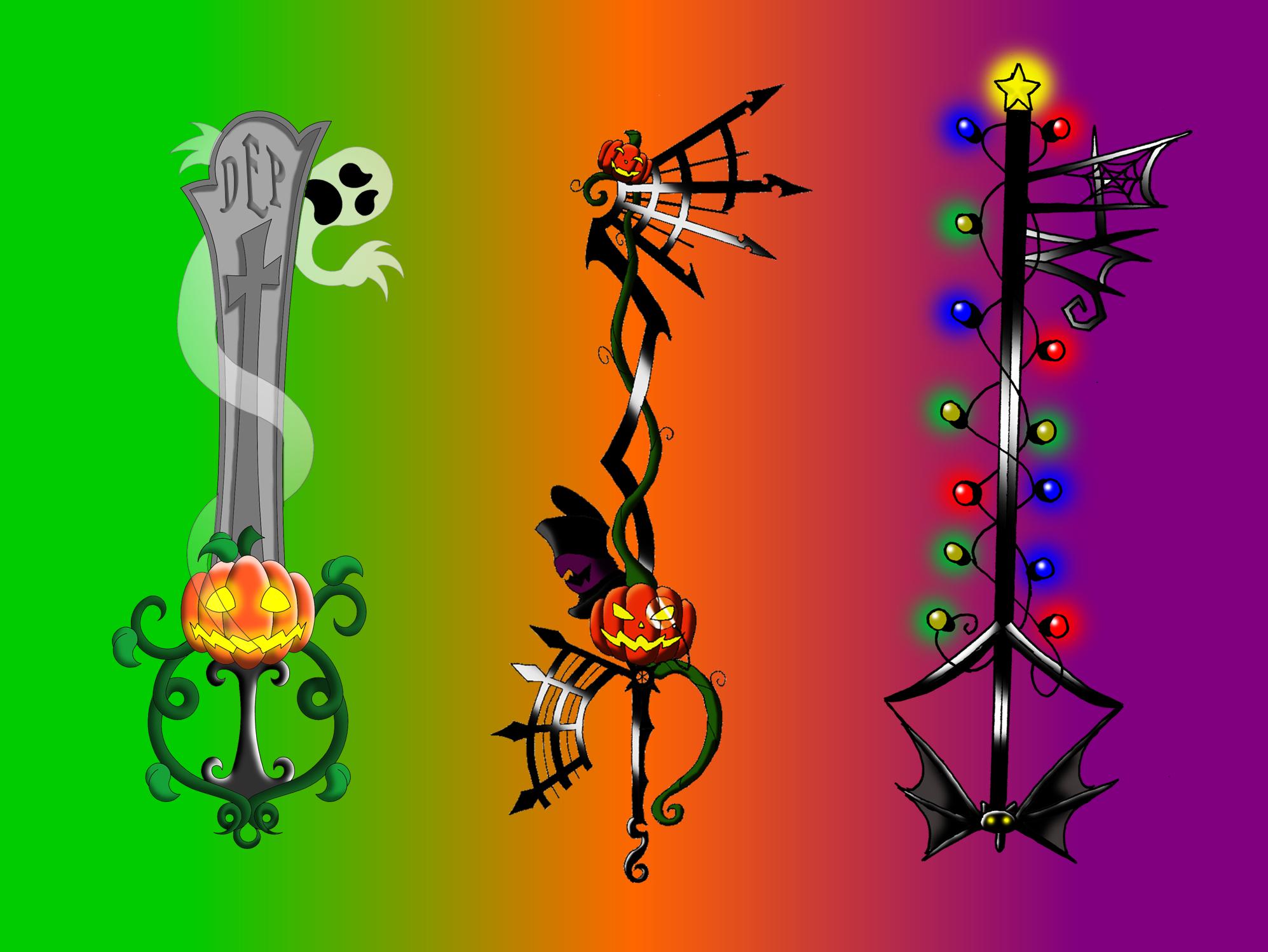 halloween keyblades by portadorX on DeviantArt