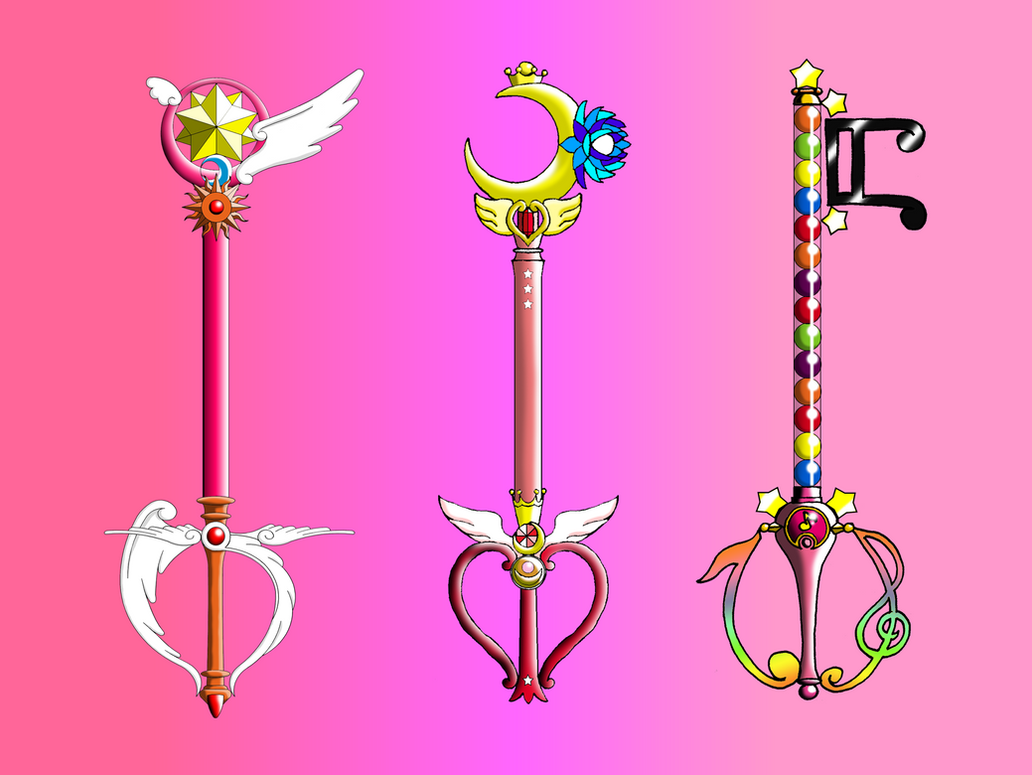 Magic Girl Anime Keyblades By Portadorx On Deviantart