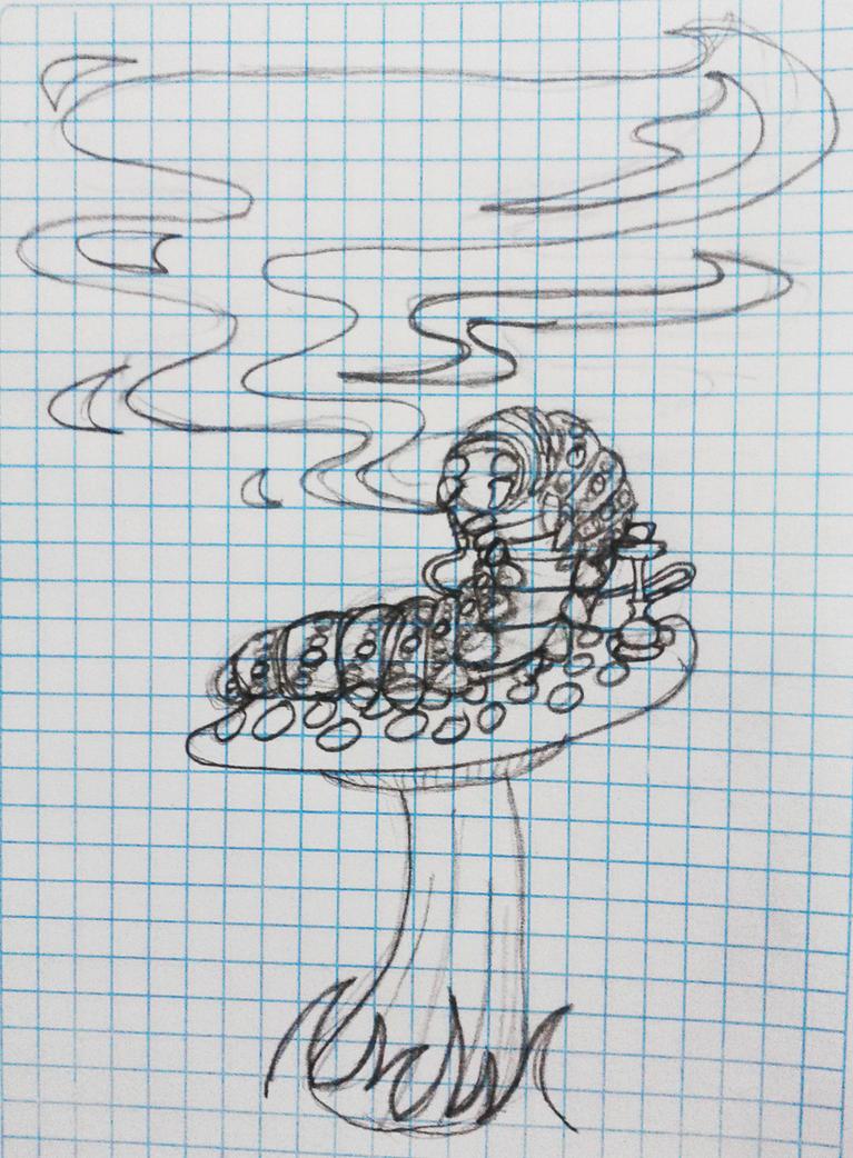 the smoking caterpillar by portadorX