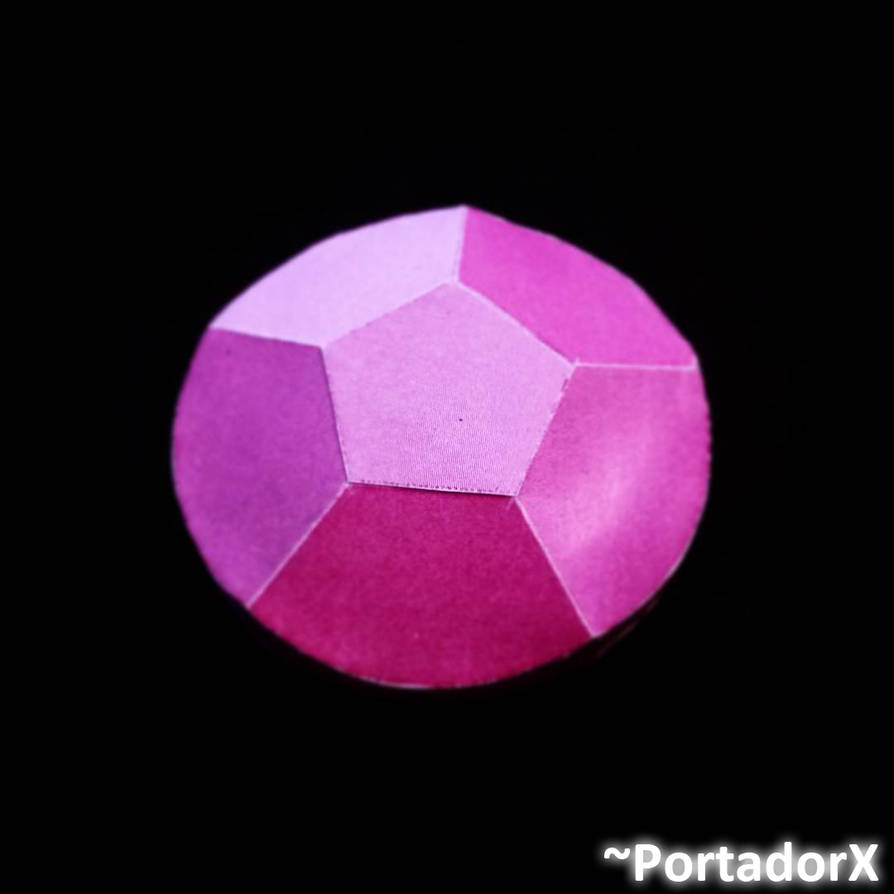 Rosequartz Gem Papercraft Model By Portadorx On Deviantart