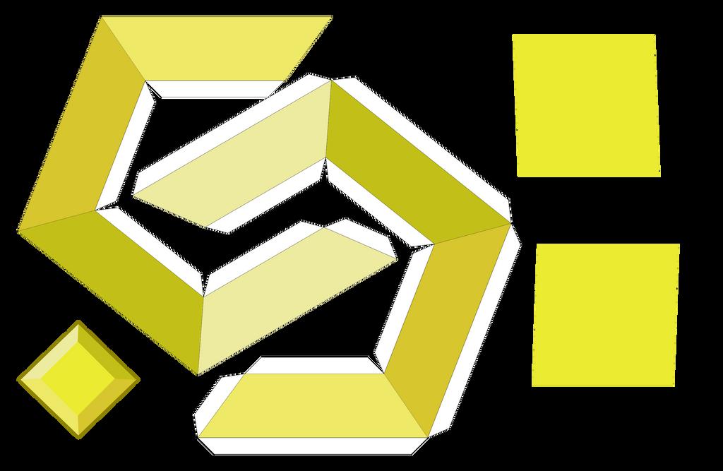 Yellow Diamond Papercraft Template By Portadorx On Deviantart