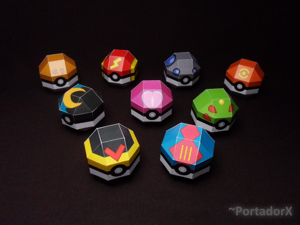 Gen 2 Pokeballs Papercrafts Models 641881336