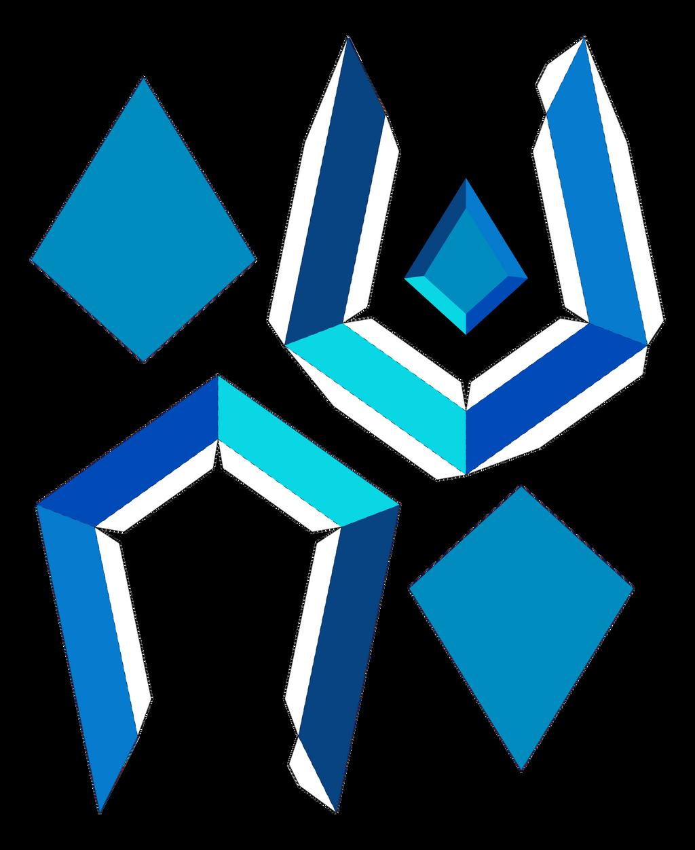 Blue Diamond Papercraft Template Ver2 by portadorX on ... - photo#10