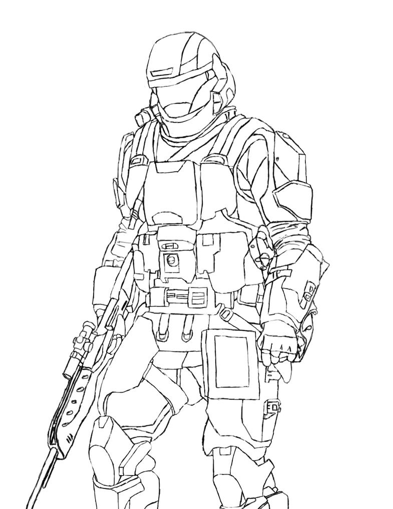 halo 3 odst coloring pages - photo#6
