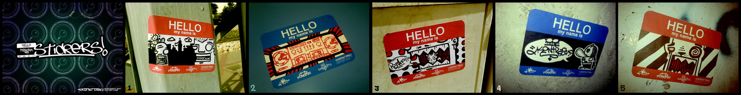 Hello.My.Name.Is.Stickers. by kontrastt