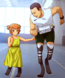 Young Emi and Oscar