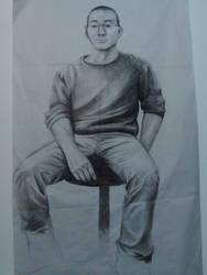Charcoal Lifesized Drawing