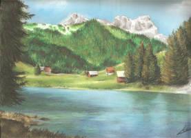 .:Paysage de montagne:. by O-Shana
