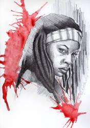 Michonne, TWD by watchherpaint