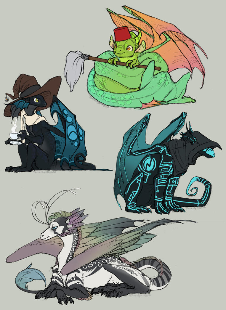 Dragon babbies by Torrentpelt