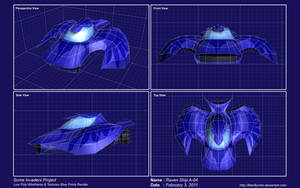 Raven-Car Ship LowPoly by MacBurrito
