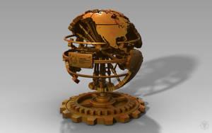 Steampunk World Desk Decoration by MacBurrito