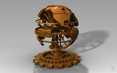 Steampunk World Desk Decoration
