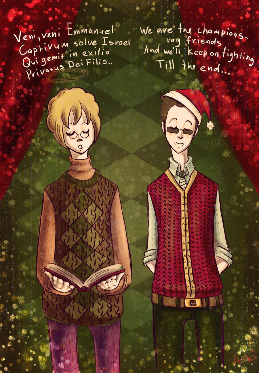Everyone has his own Christmas carol by AokiAvsen