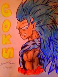 SSJ 3 Blue Goku -SkooB 11/23/16 by SkoobyForever