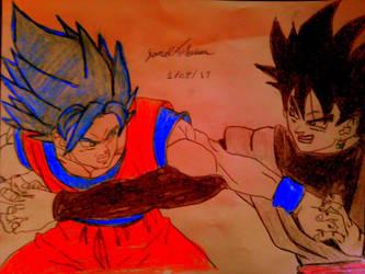 SSJ God Blue Goku vs Black Goku -SkooB 1/28/17 by SkoobyForever