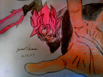 SSJ Rose Goku Black -SkooB 2/8/17 by SkoobyForever