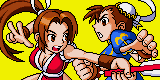 Mai and Chun li battle by Bran-new-Lovesong