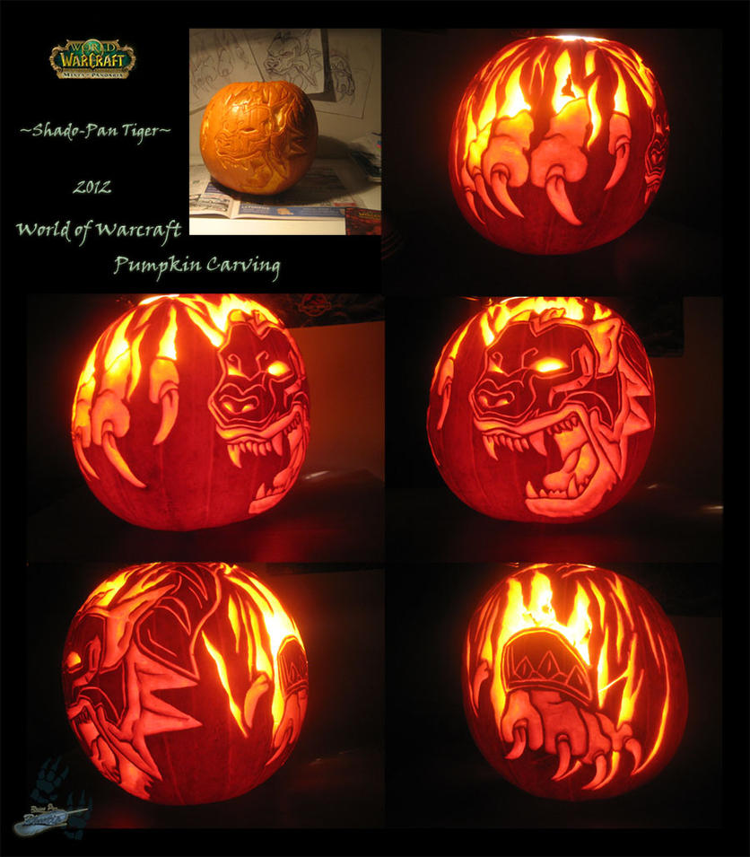 Shado-Pan Tiger Carving For Capture Your Pumpkin by The-Bluetip