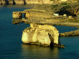 The west cliffs of Fungus Rock by floramelitensis