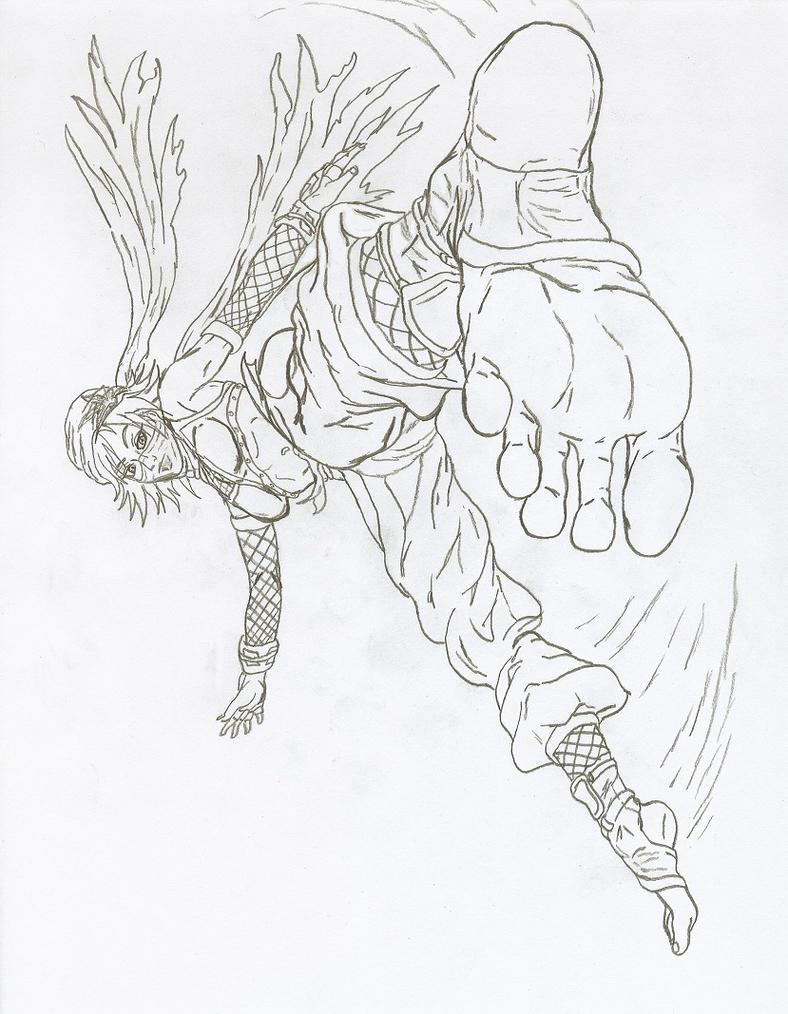 Ninja Asuka Kazama Linear by PsylisiaDragoon