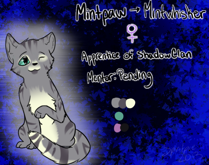 Mintpaw Reference Sheet by Spiritpie