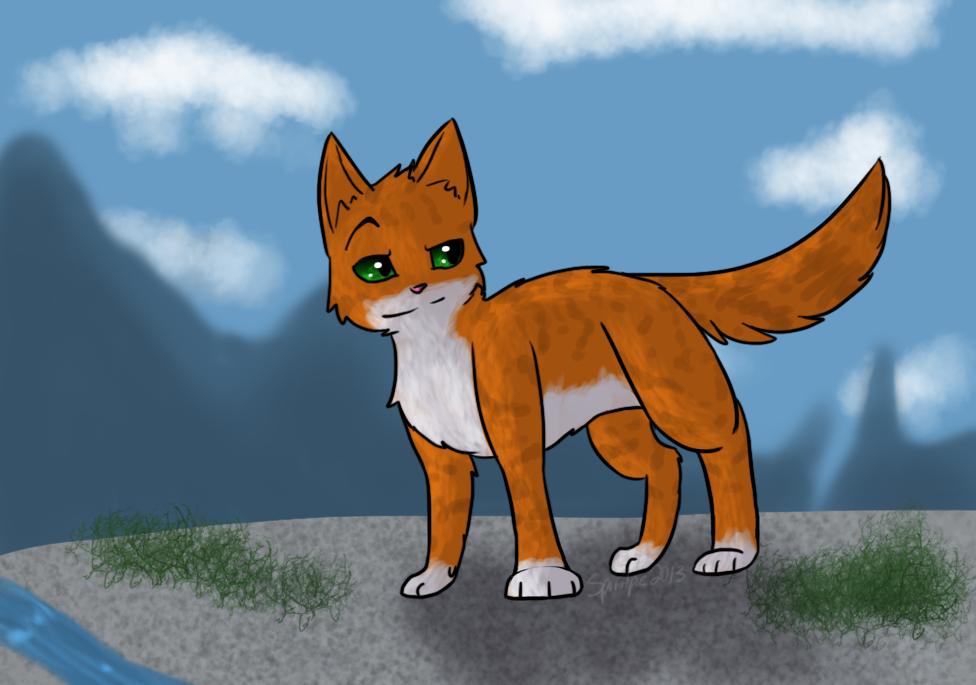 Wolf-Chalk commission by Spiritpie
