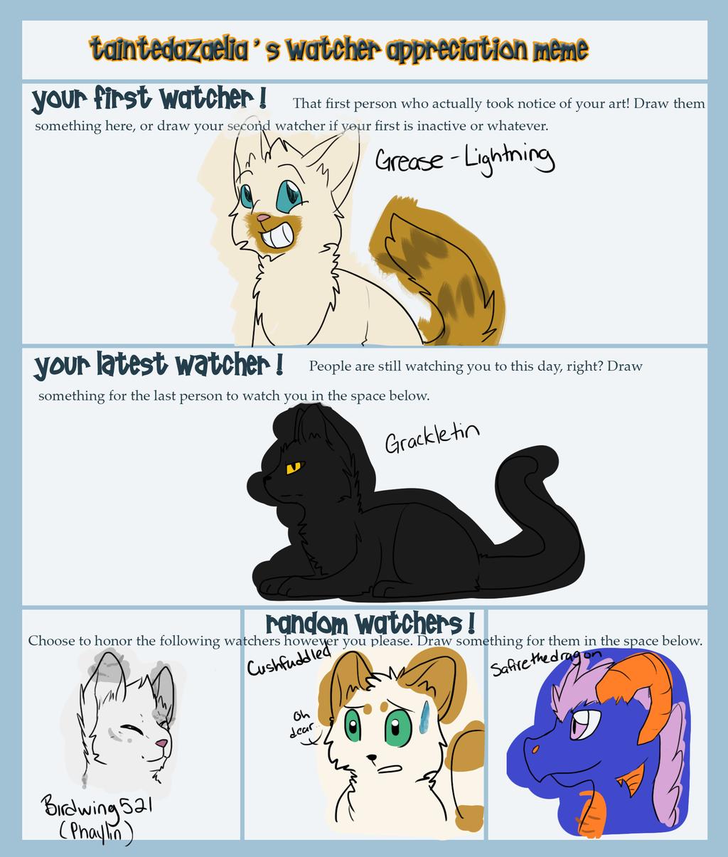 Watcher Appreciation Meme by Spiritpie