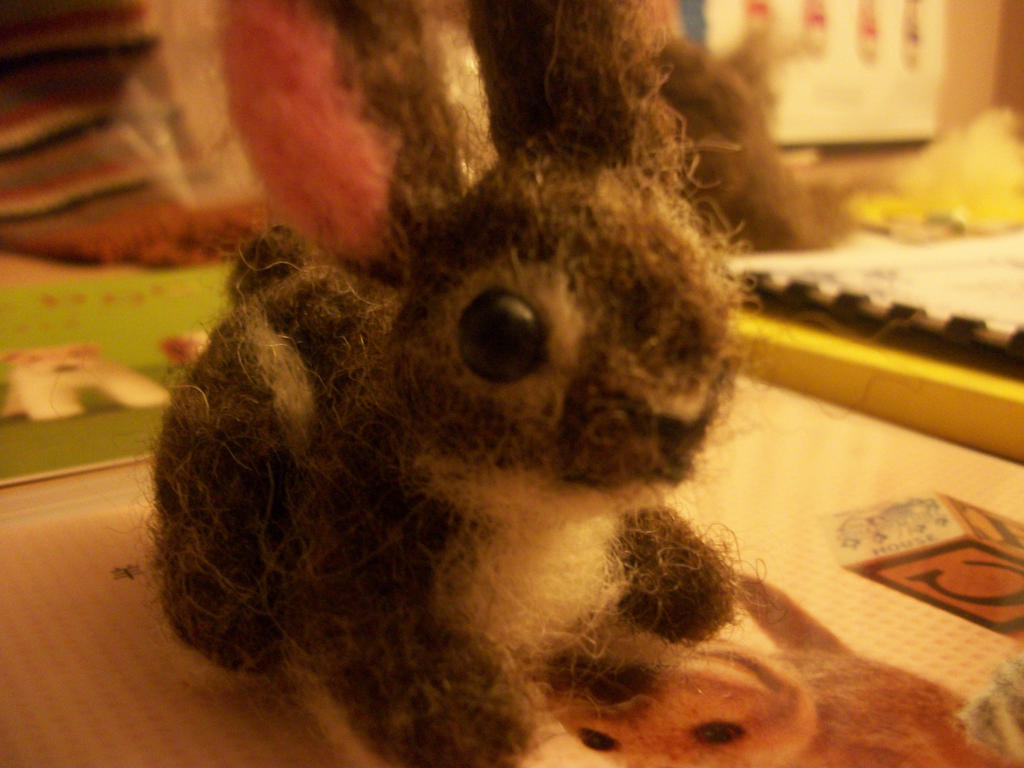 Rabbit Needle-felt by bunniesRawesome