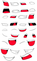 Mouth animation sheet
