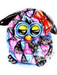 Furby Boom - Colored Pencils