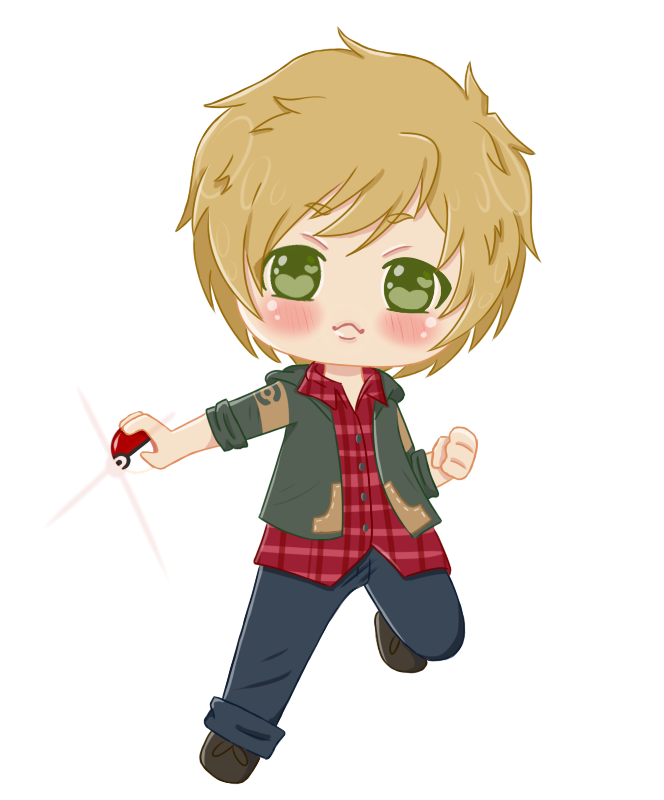 :COM: Caleb Mini Chibi + [Speed Paint] by Momoroo