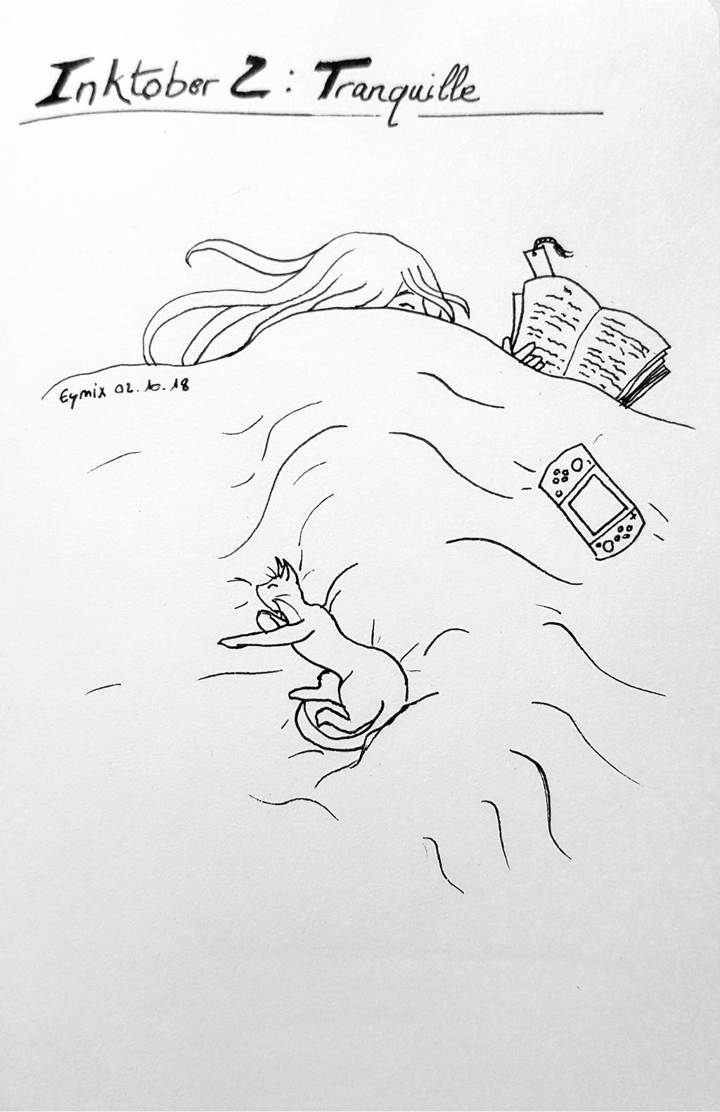 Inktober 2018 2 - Tranquille