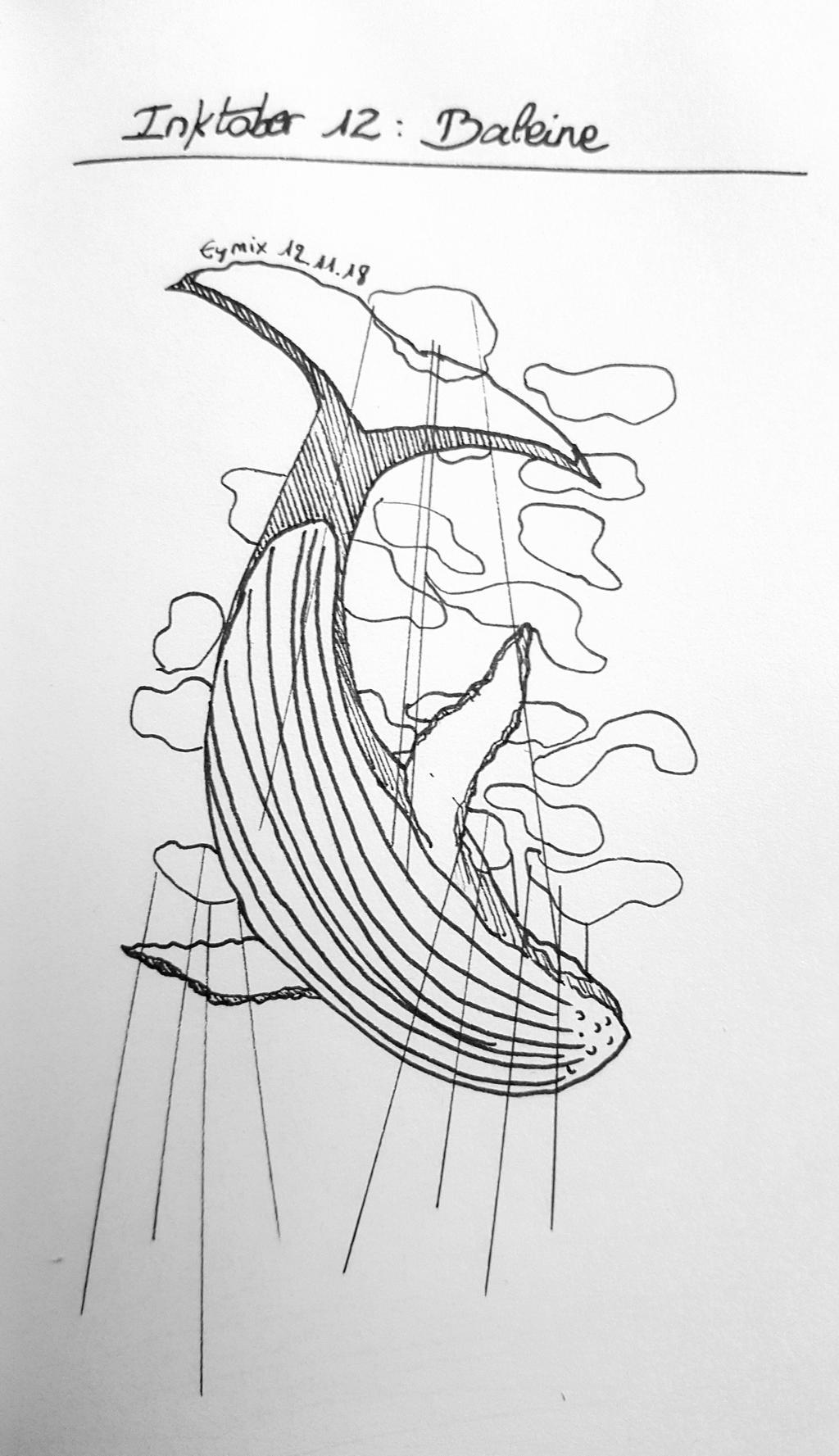 Inktober 2018 12 - Baleine