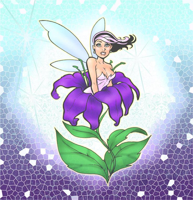 Fantasy flowergirl by scarab109