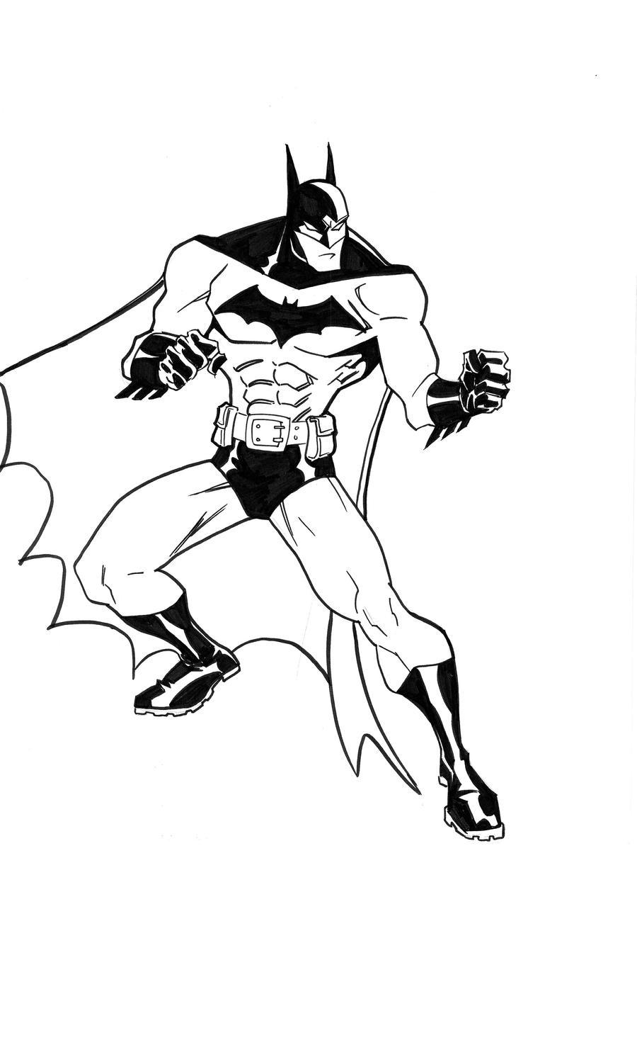 The Batman Inked by scarab109 on DeviantArt