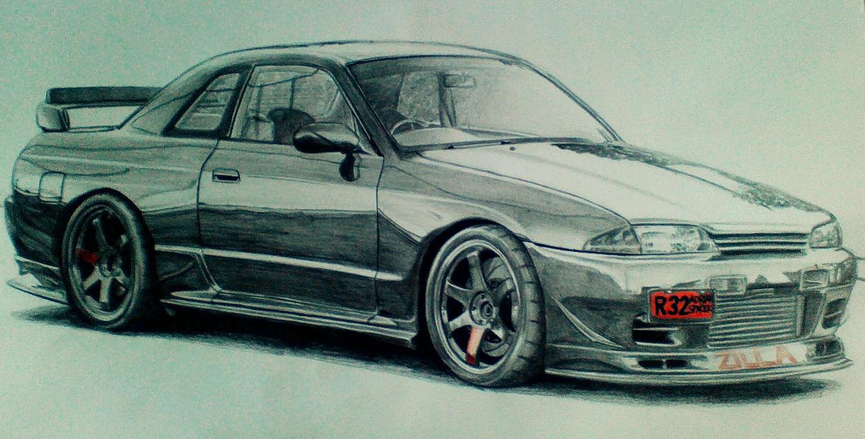 Nissan Skyline R32 Drawing By Cardesigner123 On Deviantart