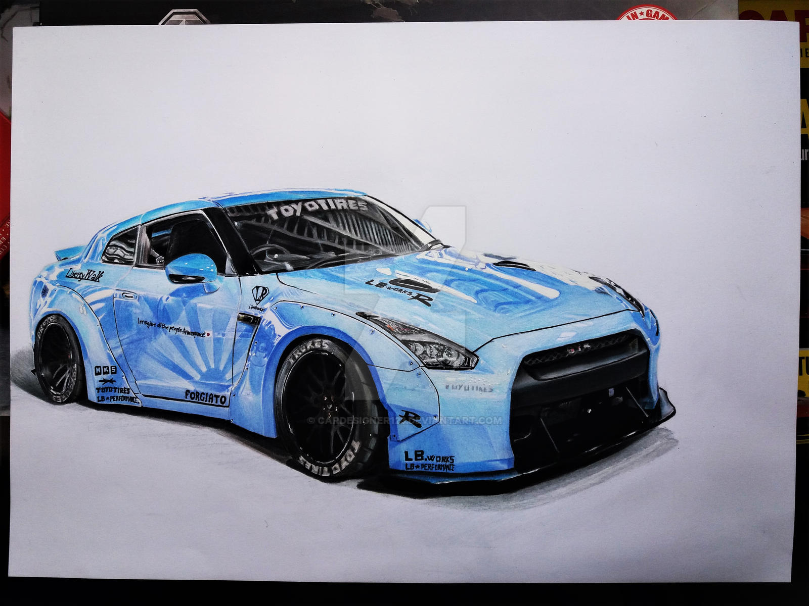 Liberty Walk Gtr Drawing Pictures to Pin on Pinterest ...
