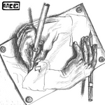 Escher - Drawing hands replica