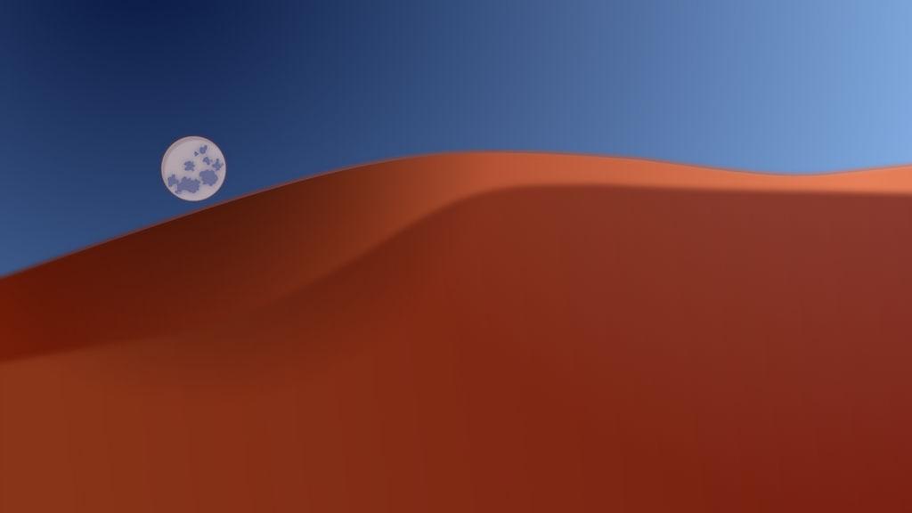 Dunes under Moon