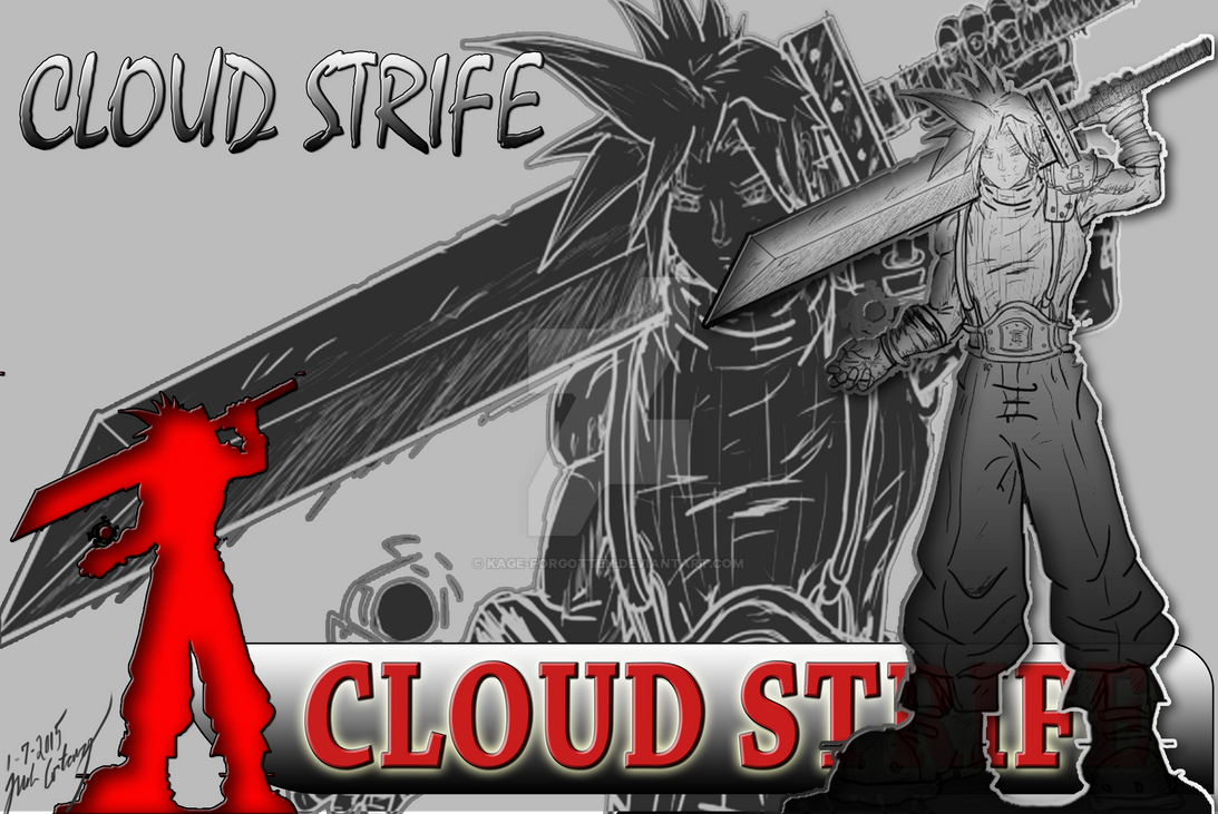 ZBRUSH HERO WEEKLY ART CHALLENGE: Cloud Strife by Kage-Forgotten