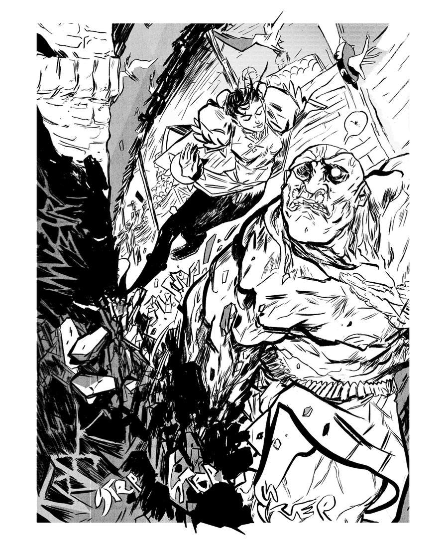 Chun-Li VS Sagat by paulmaybury