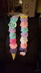 Crocheted Ice Cream Cone Scarf