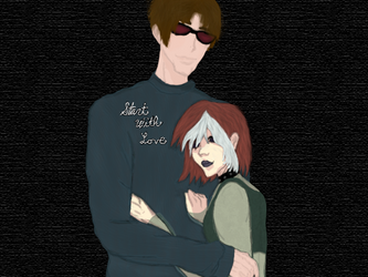 Rogue and Scott {Commission for Animelove1430} by Ibitz